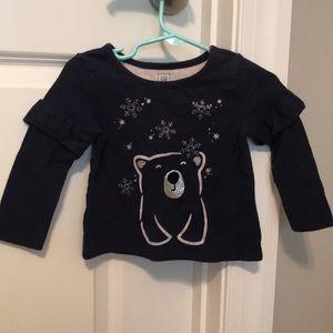 Baby Gap Polar Bear Snowflake❄️ Long Sleeve Shirt